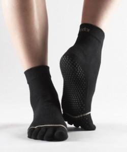 calze da pilates antiscivolo nere