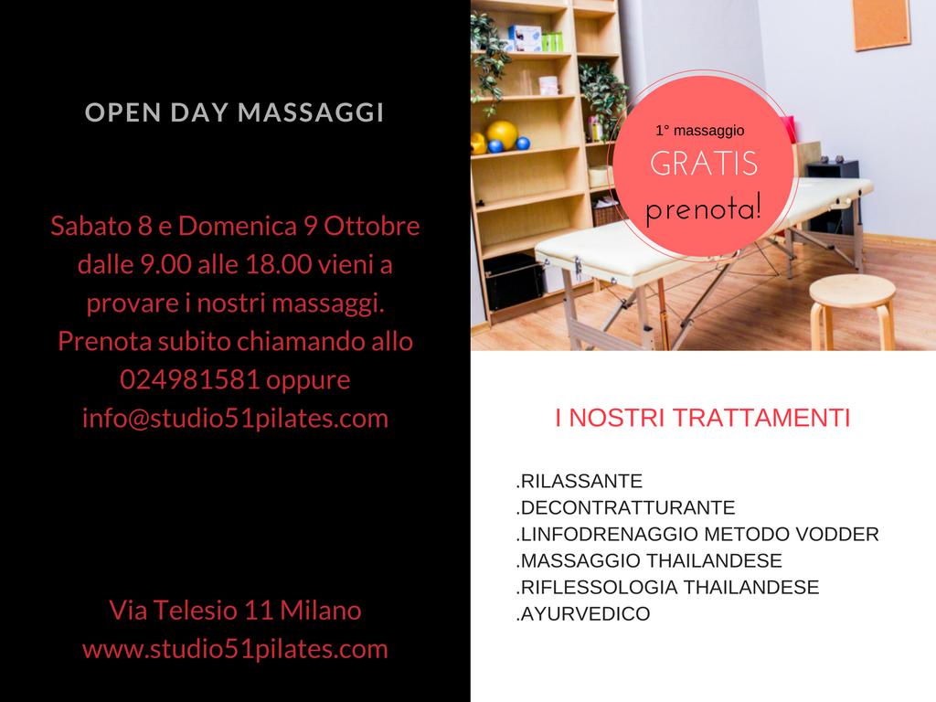Presentazione open day massaggi