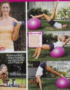 Denise Richards e il pilates