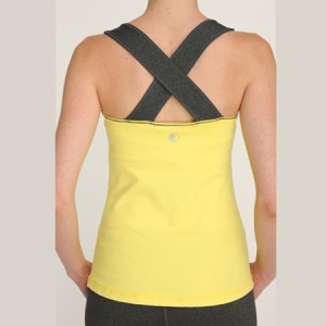 top giallo e nero per pilates