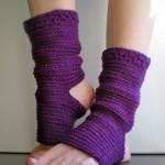 calze da pilates e da danza viola