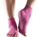 calze da pilates rosa antiscivolo