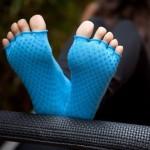 calze pilates azzurre