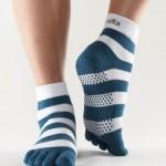 calze da pilates a righe